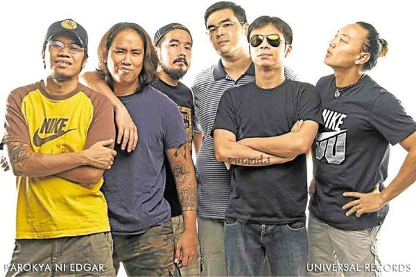 From left: Darius Semaña, Gab Chee Kee, Vinci Montaner, Dindin Moreno, Chito Miranda and Buwi Meneses