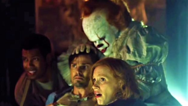 Jessica Chastain, as Tammy Faye Bakker, will give Pennywise a run for his makeup